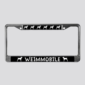 Weimmobile Weimaraner License Plate Frame